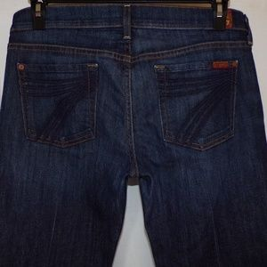 "7 for All Mankind Dojo Dark Jeans 30 x 32.5""L Navy"